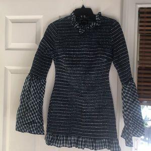 Petersyn plaid mini dress